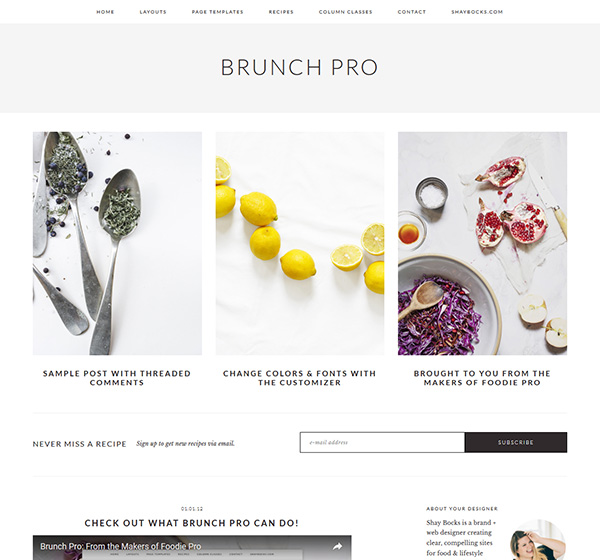 Brunch Pro theme - StudioPress