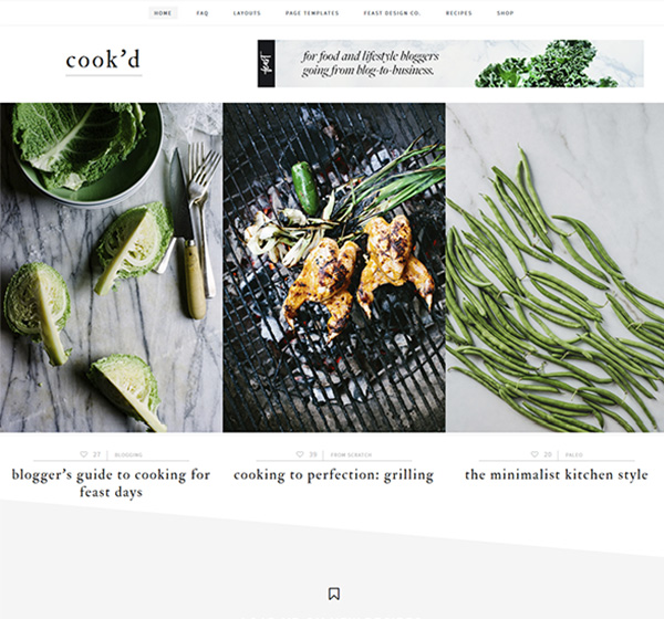 Cook'd theme - StudioPress