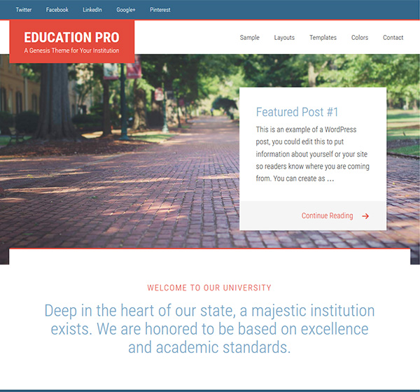 Education Pro theme - StudioPress